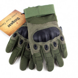 Tactical Gloves with Full Finger Touch L Army Green