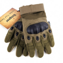 Tactical Gloves with Full Finger Touch L Wolf Brown