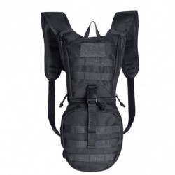 Tactical Hydration Pack Backpack 900D with 2.5L Bladder Black without bladder