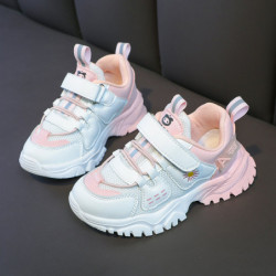 Unisex Kids Daisy Pattern Colorblock Soft Casual Sneakers