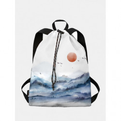 Chinese Style Drawstring Backpack