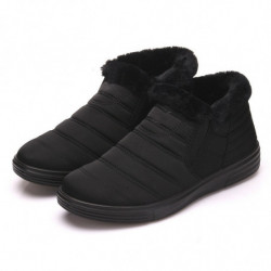 Men Fabric Warm Slip On Casual Boots