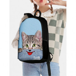 Cat Dog Funny Expression Animal-print Backpack