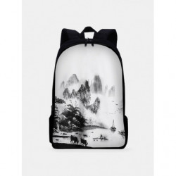 Large Capacity Ancient Style Painting Backpack